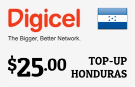 $25.00 Digicel Honduras Prepaid Wireless Top-Up