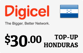 $30.00 Digicel Honduras Prepaid Wireless Top-Up