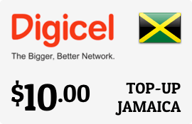 $10.00 Digicel Jamaica Prepaid Wireless Top-Up
