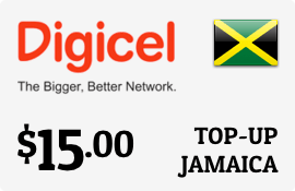 $15.00 Digicel Jamaica Prepaid Wireless Top-Up
