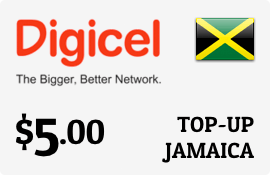 $5.00 Digicel Jamaica Prepaid Wireless Top-Up