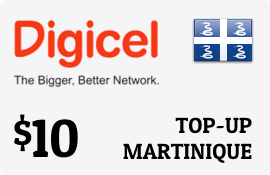 $10.00 Digicel Martinique Prepaid Wireless Top-Up