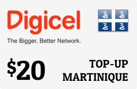 $20.00 Digicel Martinique Prepaid Wireless Top-Up