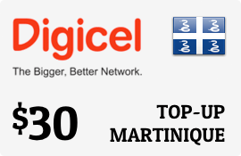 $30.00 Digicel Martinique Prepaid Wireless Top-Up