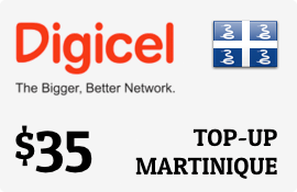 $35.00 Digicel Martinique Prepaid Wireless Top-Up