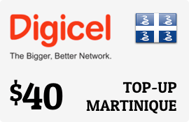 $40.00 Digicel Martinique Prepaid Wireless Top-Up