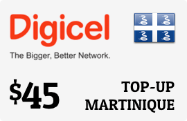 $45.00 Digicel Martinique Prepaid Wireless Top-Up