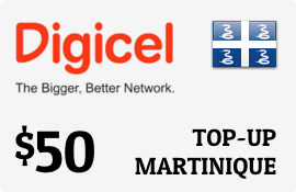$50.00 Digicel Martinique Prepaid Wireless Top-Up