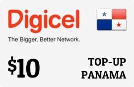 $10.00 Digicel Panama Prepaid Wireless Top-Up
