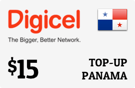 $15.00 Digicel Panama Prepaid Wireless Top-Up
