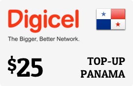 $25.00 Digicel Panama Prepaid Wireless Top-Up