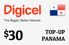$30.00 Digicel Panama Prepaid Wireless Top-Up