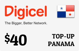 $40.00 Digicel Panama Prepaid Wireless Top-Up