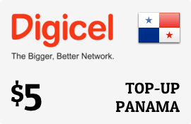 $5.00 Digicel Panama Prepaid Wireless Top-Up