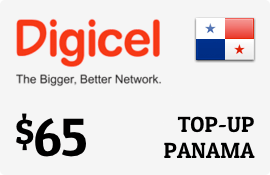 $65.00 Digicel Panama Prepaid Wireless Top-Up
