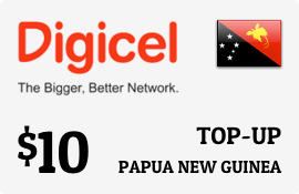 $10.00 Digicel Papua New Guinea Prepaid Wireless Top-Up