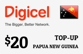 $20.00 Digicel Papua New Guinea Prepaid Wireless Top-Up