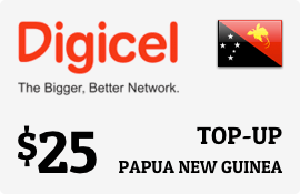 $25.00 Digicel Papua New Guinea Prepaid Wireless Top-Up