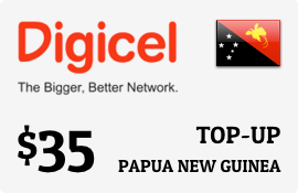 $35.00 Digicel Papua New Guinea Prepaid Wireless Top-Up