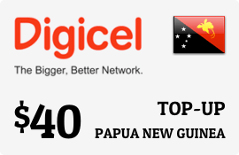 $40.00 Digicel Papua New Guinea Prepaid Wireless Top-Up