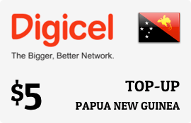 $5.00 Digicel Papua New Guinea Prepaid Wireless Top-Up