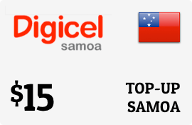 Buy the $15.00 Digicel Samoa Prepaid Wireless Top-Up | On SALE for Only $15.00
