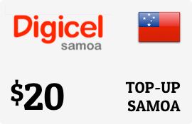 $20.00 Digicel Samoa Prepaid Wireless Top-Up