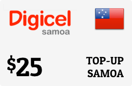 $25.00 Digicel Samoa Prepaid Wireless Top-Up