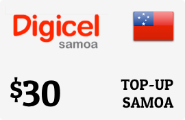 $30.00 Digicel Samoa Prepaid Wireless Top-Up