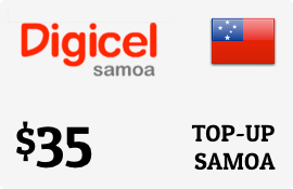 $35.00 Digicel Samoa Prepaid Wireless Top-Up