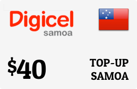 $40.00 Digicel Samoa Prepaid Wireless Top-Up