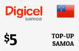 $5.00 Digicel Samoa Prepaid Wireless Top-Up