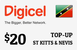 $20.00 Digicel St Kitts & Nevis Prepaid Wireless Top-Up