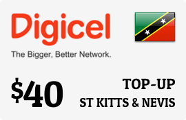 $40.00 Digicel St Kitts & Nevis Prepaid Wireless Top-Up