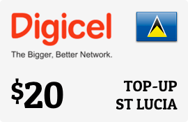 $20.00 Digicel St Lucia Prepaid Wireless Top-Up