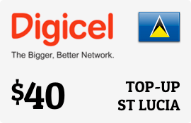 $40.00 Digicel St Lucia Prepaid Wireless Top-Up