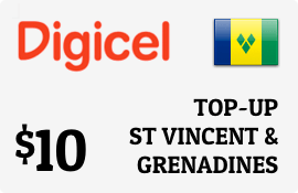 $10.00 Digicel St Vincent & Grenadines Prepaid Wireless Top-Up