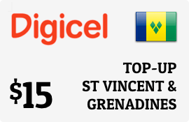 $15.00 Digicel St Vincent & Grenadines Prepaid Wireless Top-Up