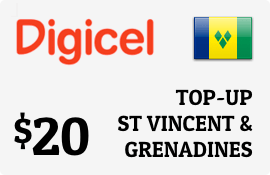 $20.00 Digicel St Vincent & Grenadines Prepaid Wireless Top-Up