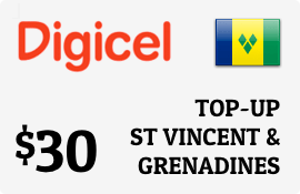 $30.00 Digicel St Vincent & Grenadines Prepaid Wireless Top-Up