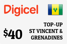$40.00 Digicel St Vincent & Grenadines Prepaid Wireless Top-Up