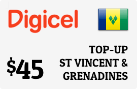 $45.00 Digicel St Vincent & Grenadines Prepaid Wireless Top-Up