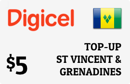 $5.00 Digicel St Vincent & Grenadines Prepaid Wireless Top-Up