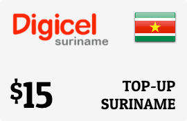 $15.00 Digicel Suriname Prepaid Wireless Top-Up