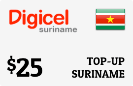$25.00 Digicel Suriname Prepaid Wireless Top-Up