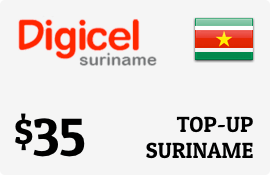 $35.00 Digicel Suriname Prepaid Wireless Top-Up