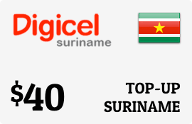 $40.00 Digicel Suriname Prepaid Wireless Top-Up