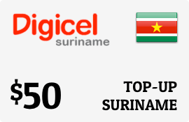 $50.00 Digicel Suriname Prepaid Wireless Top-Up