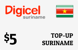 $5.00 Digicel Suriname Prepaid Wireless Top-Up