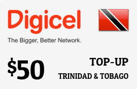 $50.00 Digicel Trinidad & Tobago Prepaid Wireless Top-Up